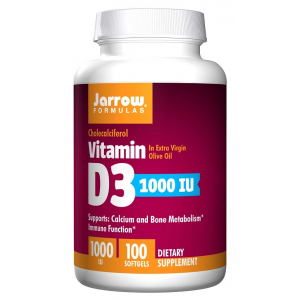 Vitamin D3, 1000 IU - 100 softgels