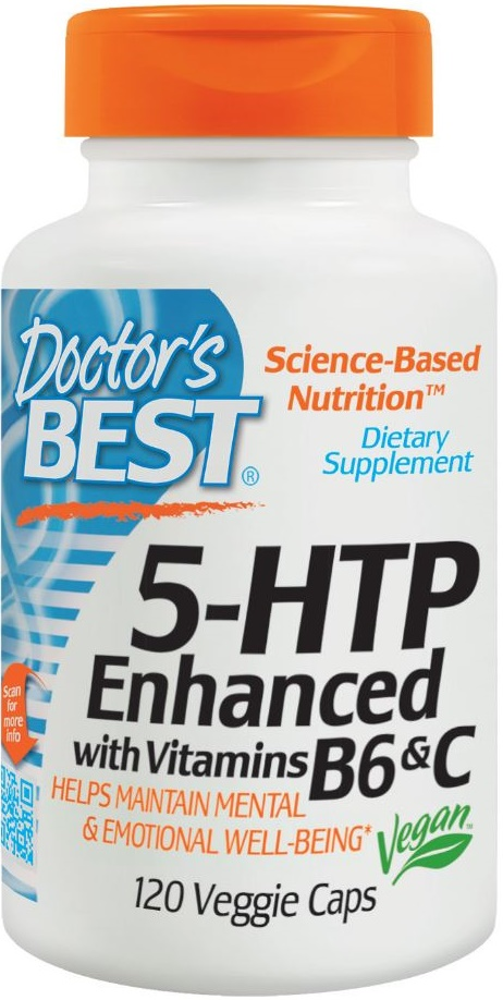 5-HTP Enhanced with Vitamin B6 and C - 120 vcaps