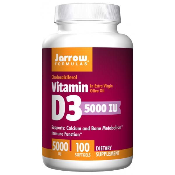 Vitamin D3, 5000 IU - 100 softgels