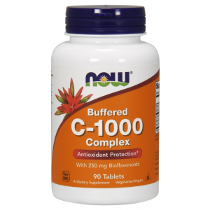 Vitamin C-1000 Complex - Buffered with 250mg Bioflavonoids - 90 tabs