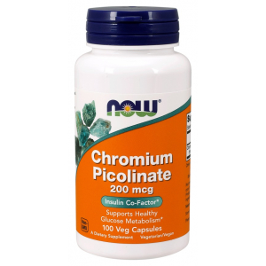 Chromium Picolinate, 200mcg - 100 vcaps
