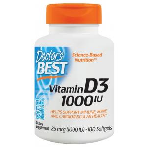 Vitamin D3, 1000 IU - 180 softgels