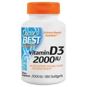 Vitamin D3, 2000 IU - 180 softgels