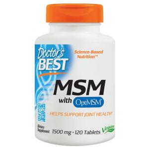 MSM with OptiMSM Vegan, 1500mg - 120 tabs