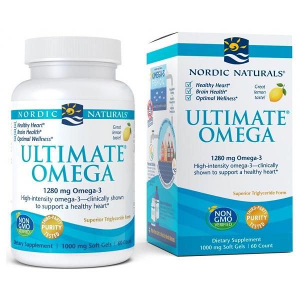 Ultimate Omega, 1280mg Lemon - 60 softgels