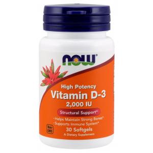 Vitamin D-3, 2000 IU - 30 softgels