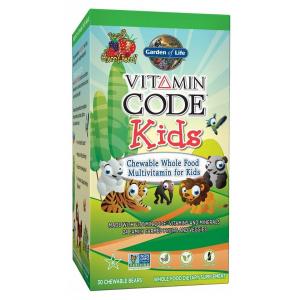 Vitamin Code Kids, Chewable Whole Food Multivitamin For Kids - 30 chewable bears