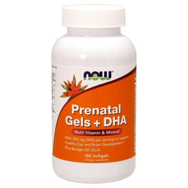 Prenatal Gels + DHA - 180 softgels