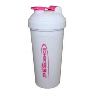 PEScience Shaker, White & Pink - 700 ml.
