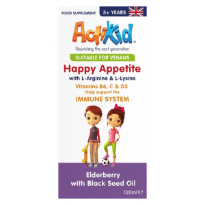 Happy Appetite Immune System, Elderberry with Black Seed Oil - 120 ml.