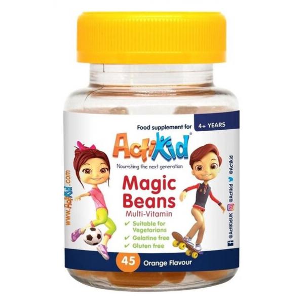Magic Beans Multi-Vitamin, Orange - 45 gummies