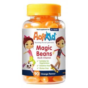 Magic Beans Multi-Vitamin, Orange - 90 gummies