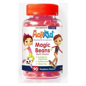 Magic Beans Multi-Vitamin, Raspberry - 90 gummies