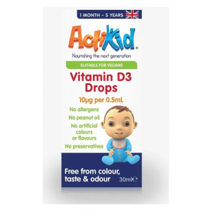 Vitamin D3 Drops, 10mcg - 30 ml.