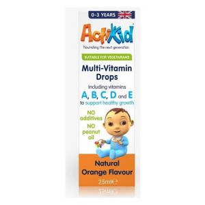 Multi-Vitamin Drops, Natural Orange Flavour - 25 ml.