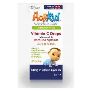 Vitamin C Drops, Unflavoured - 15 ml.