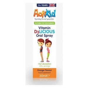 Vitamin D3LICIOUS Oral Spray, Orange - 30 ml.