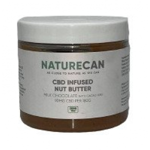 CBD Infused Nut Butter, Milk Chocolate with Cacao Nibs - 180g