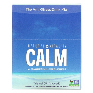 Natural Calm Packs, Unflavored - 30 x 3.3g