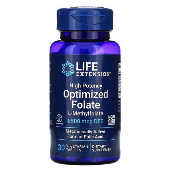 High Potency Optimized Folate - 30 vegetarian tabs