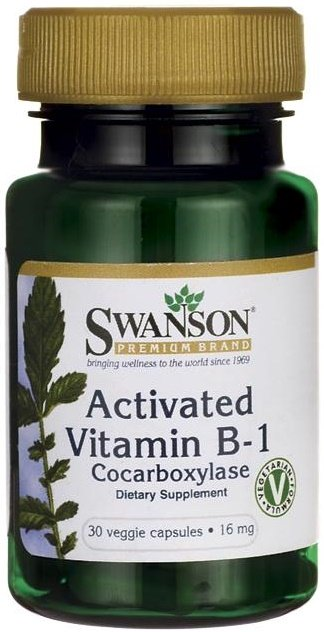 Activated Vitamin B-1 (Cocarboxylase), 16mg - 30 vcaps