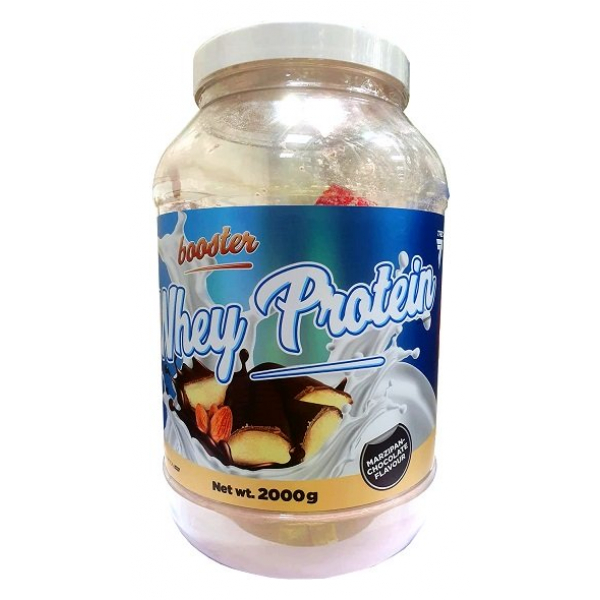 Booster Whey Protein, Marzipan Chocolate - 2000g