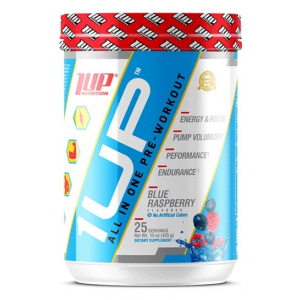 1Up For Men Pre-Workout, Blue Raspberry - 425g