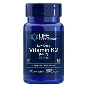 Low Dose Vitamin K2 (MK-7), 45mcg - 90 softgels